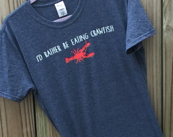 ladies fitted crawfish shirts