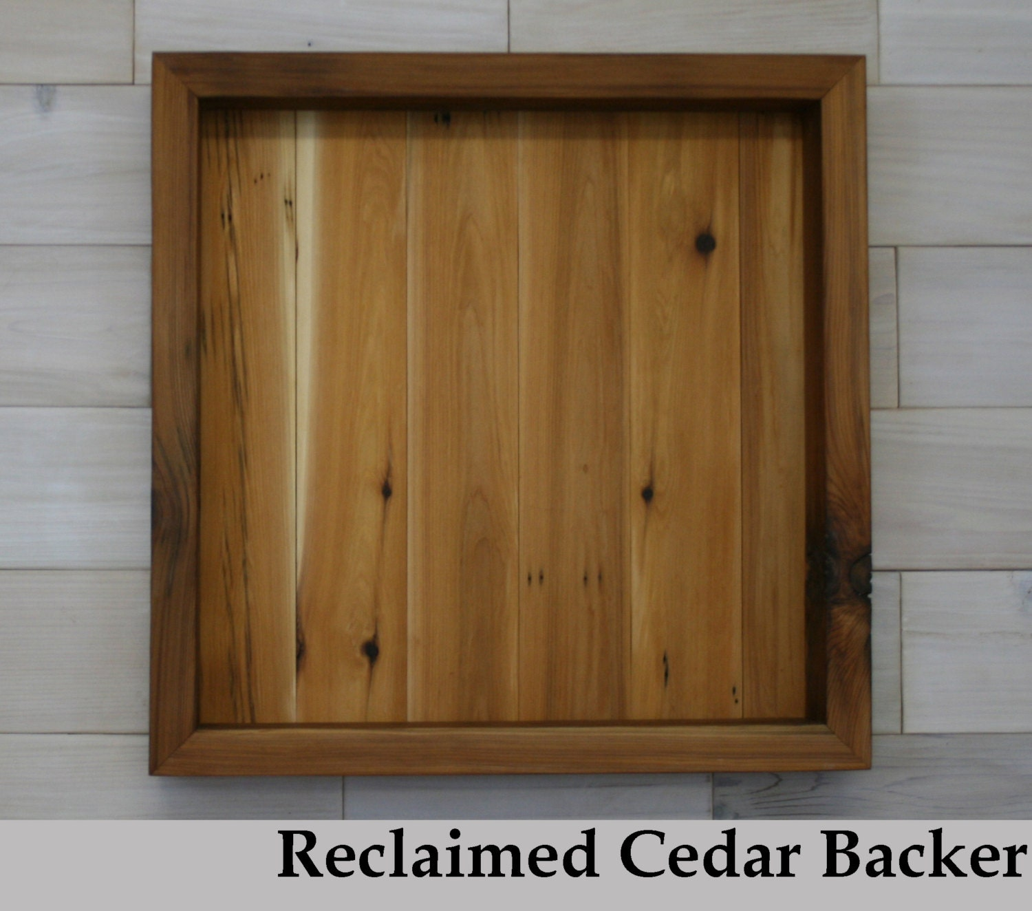 Reclaimed Cedar Shadow Box 20 X 20 X 3 With Clear Acrylic