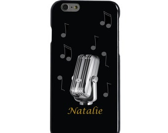 Hard Snap-On Case for Apple 5 5S SE 6 6S 7 Plus - CUSTOM Monogram - Any Colors - Black Yellow Grey Music Notes