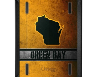 Custom OtterBox Defender for Apple iPad 2 3 4 / Air 1 2 / Mini 1 2 3 4 - CUSTOM Monogram - Green Bay Wisconsin