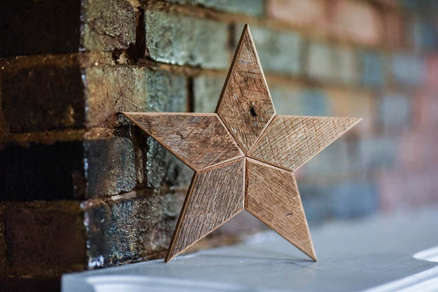 Natural Star Christmas Tree Topper Decoration 12 Inch Star