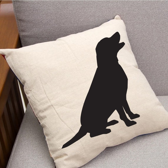 Black Lab Throw Pillow : Labrador Throw Pillow Black Lab Throw Pillow 16 x 16
