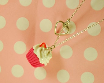 cupcake necklace - food jewelry