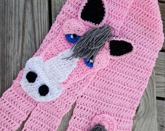 Horse Scarf Crochet Pattern