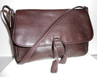 Ann Taylor Genuine Leather Handbag Purse Brown