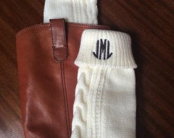 Monogrammed Boot Socks