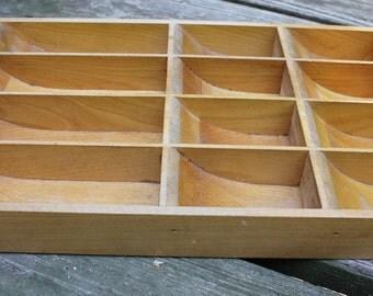 Vintage Wooden Cash Register Drawer/ Wooden Till Insert/ Studio Art Supply
