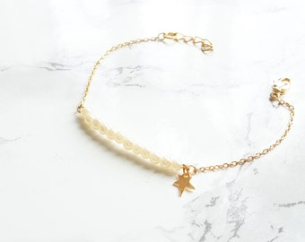 Swarovski Pearls & Gold Bracelet, Pearl Bracelet, Bridesmaids gift, Flower Girl, Wedding jewelry, Bridesmaid Bracelet, romantic jewelry