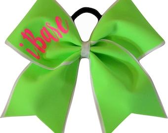 I Base Lime Green Cheer Bow