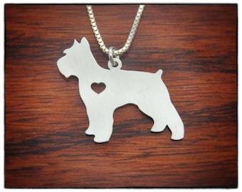 SALE Schnauzer Necklace Sterling Silver Jewelry - Dog Pet Breed Jewelry - Personalized Pet Bracelet Charm Adoption Memorial