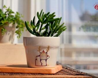 Christmas Monsters flower pots