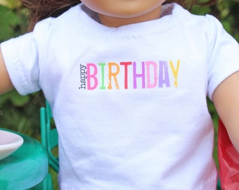 "Birthday Shirt for 18"" doll"