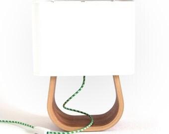 Table Lamp Mahogany Bent Plywood   Bedside Lamp   Modern Table Lamp   Wood Lamp   Desk Lamp   Bedroom Lamp   Modern Lamp   Mid Century Lamp