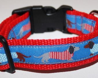 """Dachshund Hound Dog Collar 1"""" Wide"""