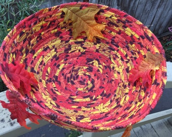 Fall Leaves fabric bowl