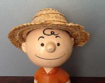 Vintage Charlie Brown of the peanuts comic strip Lego 1959 bobble head nodder