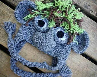 Crochet Pattern For Troll Hat : Unique troll costume related items Etsy
