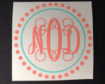 Monogram Decal | Monogram Initials | Fancy Print | Fancy Scroll Print | Yeti Cup Decal | Vinyl Decal | Yeti Decal | Decal for Yeti Cup