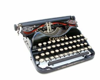 Vintage Portable Typewriter Corona Four
