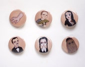 The Addams Family Pin Pack - 6 Pinback Buttons