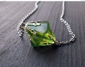 ON SALE Smallville Lana Lang inspired green meteor Kryptonite necklace
