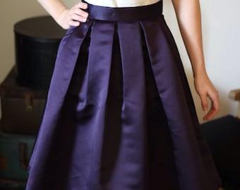 Knee Length Pleated Skirt 'Adventure Awaits!'