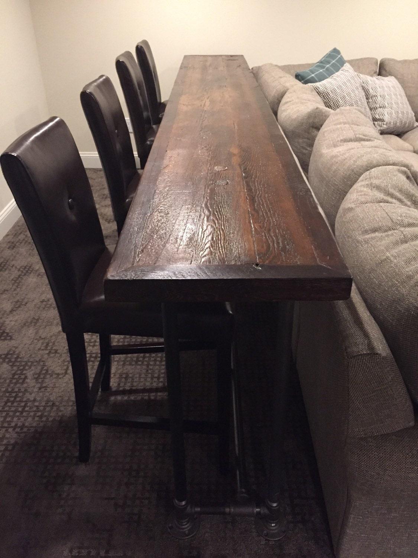 Console Table Top Sofa Table Top Bar Topreclaimed Wood