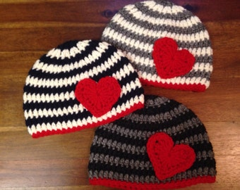 Baby, Toddler or Child Beanie with Heart