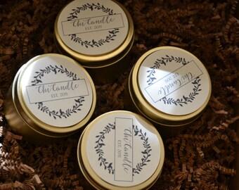 SAMPLER SET - Pick 4  Soy Candle 6 oz Travel tin Scented Soy Candle. Soy Candles Handmade. Candle Gift Set.