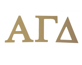 alpha gamma delta 75 unfinished wood letter set