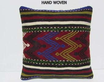 20x20 kilim pillow prehistoric throw pillow sofa 50x50 decorative pillow throw pillow turkish rustic pillow cover bohemian pillow case 30847