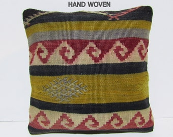 navajo kilim pillow internal kilim pillow cover recycled kilim pillowcase yoruk kilim cushion unbeatable turkish pillow case kilim rug D2173