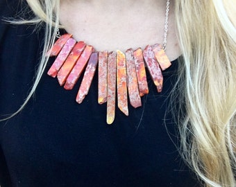 Fiery Statement Necklace