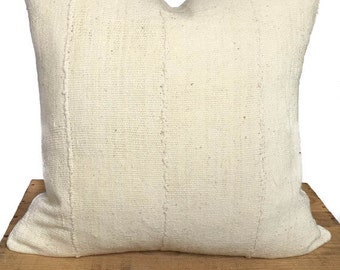 White African Mudcloth Pillow Cover - 18 Inch - Boho Throw Pillows