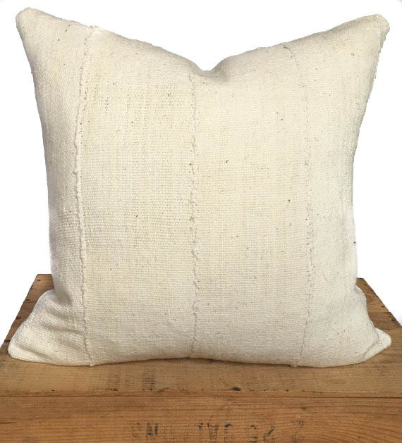 White African Mudcloth Pillow Cover 18 Inch Boho Throw