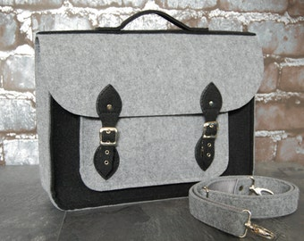 Felt Laptop bag 11 inch with pocket, satchel, Macbook Pro 11 in, Custom size Laptop bag, sleeve, case,