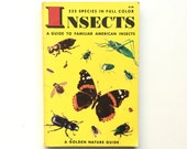 Vintage Book / Vintage Golden Nature Guide- Insects / Insect Field Guide / Pocket Book / Homeschool Book