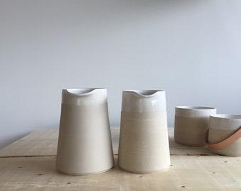 Stoneware jug  - wheel thrown