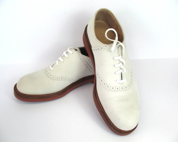 cole haan mens shoes gatsby white buck saddles new 8 1 2