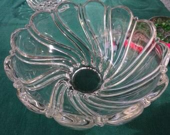 Crystal Bowl, MIKASA Crystal bowl,  Mikasa Peppermint Frost Bowl, Peppermint Frost Swirl bowl