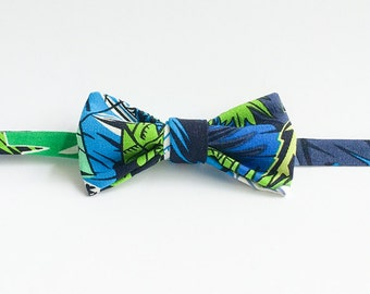 Handmade Bow Tie - Jungle Leaves