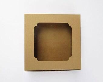Kraft Box, Brown Gift Box, Macaron Box Set of 10