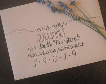 Outer Envelopes ~ Style #2 ~ Custom Calligraphy / Wedding Calligraphy / Envelope Addressing / Hand Written