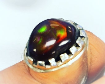 Bold fire agate ring