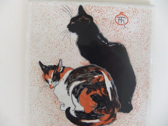 Two Cats Painting By Henri De Toulouse Lautrec Is Printed On A