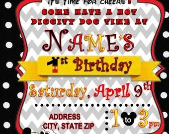Birthday Invite Time Flies