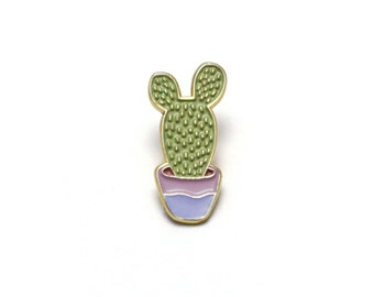 Potted Cactus Enamel Pin