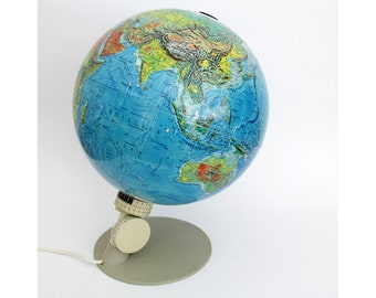 Vintage Globe Light // 1976 Scan Globe Danmark // Globe Lamp