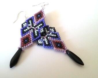 Beaded Earrings - Dangle Earrings - Beadwork - Gift for her