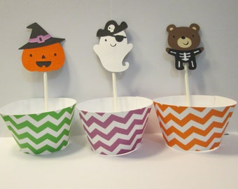 Halloween Cupcake Liners Ghost Wrappers Halloween Decor